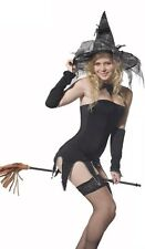 Ladies Sexy Glamour Witch Fancy Dress Womens Costume Gothic Halloween UK 8-12