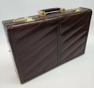 Gray Brown Genuine Eel Skin Leather Lipstick Stamp Case Small Pouch 4 Stripe