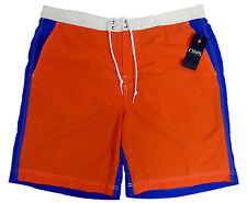 NWT Chaps Orange Blue and White Men's Colorblock Board Shorts Size XXL