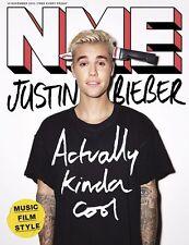 JUSTIN BIEBER WORLD EXCLUSIVE UK NME MAGAZINE NOVEMBER 2015 NEW ISSUE
