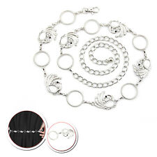 Ladies Silver Diamante Waist Belt Rhinestone Charm Belt Womens Jewellery Fashion