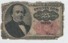 1874 Fifth Issue Twenty Five Cent Red Seal Fractional Currency- 25 Cents