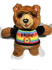 Pride Bear plush Dog toy you are loved New With Tags