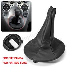 Gear Stick Shift Knob Gaiter Boot Cover Black For Fiat 500 500c Panda 2003-2012