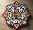Fire Department Pembroke Pines 3D routed wood plaque patch sign Custom