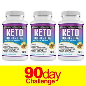 Keto Diet Pills 1200mg MAX BHB Advanced Weight Loss & Ketosis Burn Boost Energy