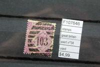 STAMPS GREAT BRITAIN YVERT N°34 USED (F107646)