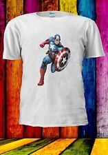 Captain America Superhero Avengers Steve Rogers Men Women Unisex T-shirt 2863