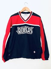 Hockey Vintage Boilers Starter Windbreaker Pullover Jacket Red And Black Sz S