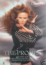 """T'Pau """"The Promise"""" U.K. Promo Poster From 1991 - Carol Decker With Arms Crossed"""