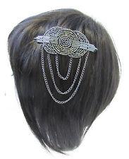 Gris Carbón Plata Cuentas Peineta Vintage Mujer Flapper 1920 Gran Gatsby