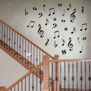 28 Vinyl MUSIC Musical NOTES Variety Pack Wall Decor Decal Sticker On Wall Decal
