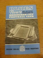 10/10/1964 Birmingham City v Liverpool  (folded, rusty staples). Thanks for view
