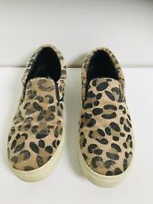 Dune London 'Lexie' Leopard Print Fur Shoes Loafers Slip-ons Size 39 UK6