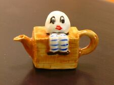 Veronique Whimsical Teapot - Humpty Dumpty - Artisan Dollhouse Miniature