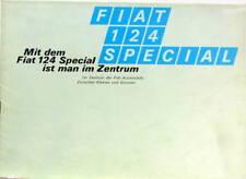 FIAT 124  SPECIAL MIT DEM IST MAN IM ZENTRUM CATALOGUE EN ALLEMAND