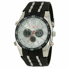 u s polo assn us9061 wrist watch for men u s polo assn us9061 mens sport watch black rubber strap white dial alarm us