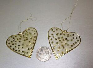 2x Vintage Suncatcher Stained Glass Easter Valentine d. Christmas Handmade Decor