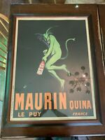 Maurin Quina European Vintage Art Poster Framed by Leonetto Cappiello