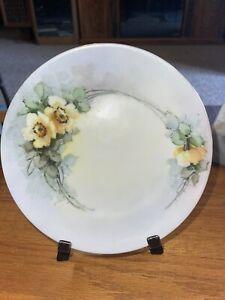 "Heinrich Co H&C Selb Bavaria Heinrich 7 1/2"" Flowers Plate 1920s - Ex Cond"