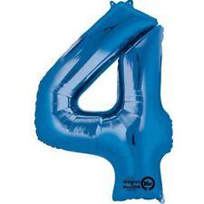Numero 4 Foil Blu Supershape Palloncino Compleanno Anniversario