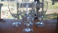 Vintage Water Goblets Ice Tea Glasses Libbey Premier Teardrop Clear 4 15oz