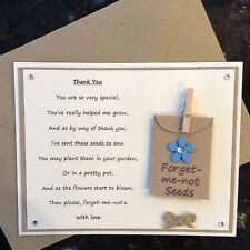 Teacher Gift Thank You Poem Forget-me-not seeds  **NON-PERSONALISABLE**
