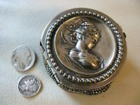 Antique Art Nouveau Silver Woman Crochet Steel Bead Tam O Shanter Coin Purse #2