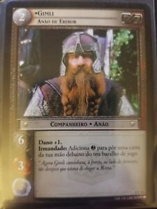 Lord of the Rings CCG Fellowship 1U12 Gimli Dwarf of Erebor PORTUGUESE LOTR TCG