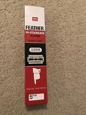 100 Feather Hi Stainless double edge shaving safety blades - Japan NEW