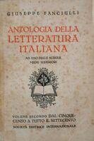 Antologia della Letteratura italiana VOL II - ER