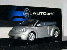 AutoArt 59758 2003 Volkswagen Beetle Cabriolet Silver 1/43