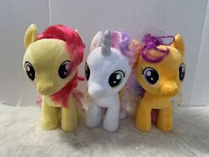 Build a Bear My Little Pony Apple bloom Scootaloo Sweetie Belle Plush Set Tutus
