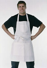 FFJ Painters & Decorators Apron White Cotton Butchers Work Wear (PC207)