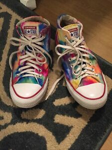 Converse Chuck Taylor All Star Bright Tie-Dye High Top Women's 8 Pre Owned