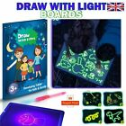 Draw with Light Kids Drawing Board Fun Learning Magical & creativity Toy UK