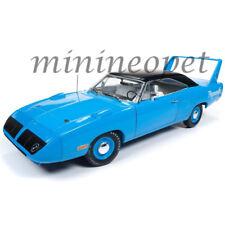 AUTOWORLD AMM1137 1970 PLYMOUTH SUPERBIRD 50th ANNIVERSARY 1/18 DIECAST BLUE
