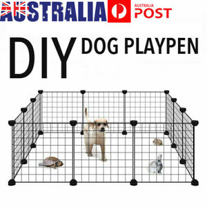 6/8/10 Panel Pet Dog Cage Playpen Puppy Exercise Kennel Fence Foldable Safe Gate