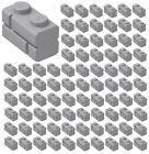 ??100x NEW LEGO 1x2 LIGHT BLUISH GRAY Modified Masonry Profile Bricks Wall 98283