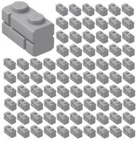☀️100x NEW LEGO 1x2 LIGHT BLUISH GRAY Modified Masonry Profile Bricks Wall 98283