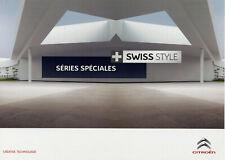 Catalogue prospekt brochure Citroën série spéciale Swiss Style 2012 CH
