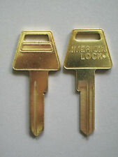 2 Original American Padlock Key Blanks 6 Pin