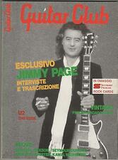 GUITAR CLUB # 9 / 1987  italian magazine JIMMY PAGE  U2  fender broadcaster