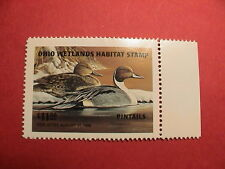 1995 OHIO WETLANDS DUCK HUNTING WATERFOWL BIRD WILDLIFE PINTAILS STAMP MINT !