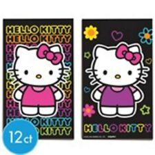 Hello Kitty Neon Birthday Party Favors Black Paper Sketch Pads 12ct