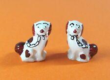 1:12 - Puppenhaus Miniatur - 2x Deko-Hunde für Kaminsims oder Vitrine