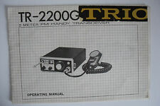 KENWOOD (TRIO) TR-2200G (GENUINE INSTRUCTION MANUAL ONLY)..RADIO_TRADER_IRELAND.