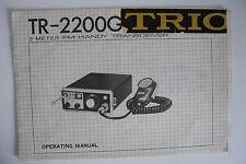 KENWOOD (TRIO) TR-2200G (GENUINE INSTRUCTION MANUAL ONLY)..RADIO_TRADER_IRELAND.