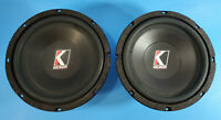 "Vintage 1993 Kicker Competition C8a 8"" Car Audio Subwoofers Pair Old School"
