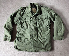 Vintage 1973 ALPHA INDUSTRIES Vietnam War Era M65 Military Jacket Mens Size M